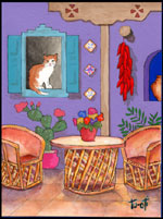 Home Sweet Home Cats Art Tile