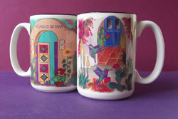 2 Ceramic Mugs - Set 2